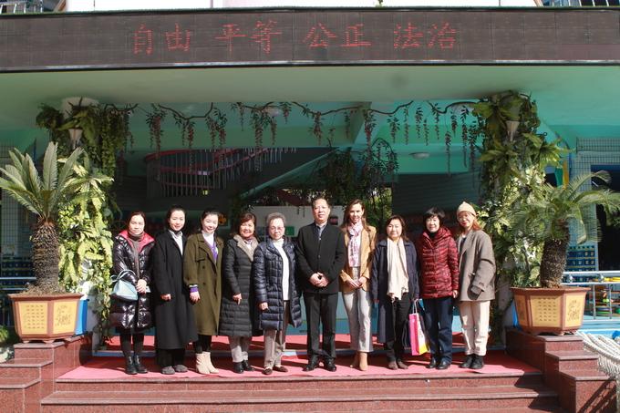 香港同胞代表团来园参观